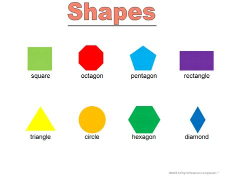 printable math shapes charts shapes chart printable for preschool pictures to pin on
