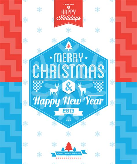 typography merry christmas card     happy  year lemon graphic singapore