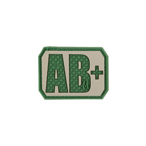 Rubber Pvc Patch Blood Type Ab Pos 1 ab pos blood type patch