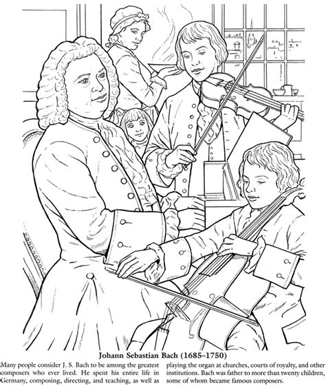 Music Composer Coloring Pages | welcome to dover publications