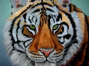 High Quality Upholstery Fabric Tiger Painting Siberian Tiger Wildlife Nature Original