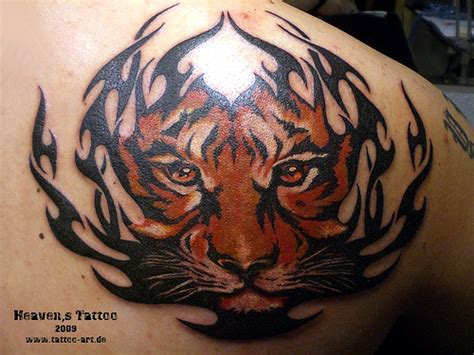 tribal tiger head tattoo april 2013 best designs