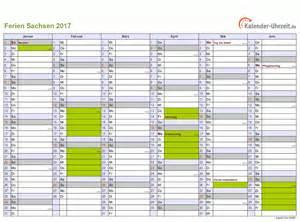 Kalender 2018 Zum Bearbeiten Ferien Sachsen 2017 Ferienkalender Zum Ausdrucken