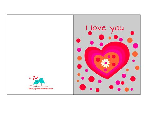 printable birthday cards lover free love cards for him