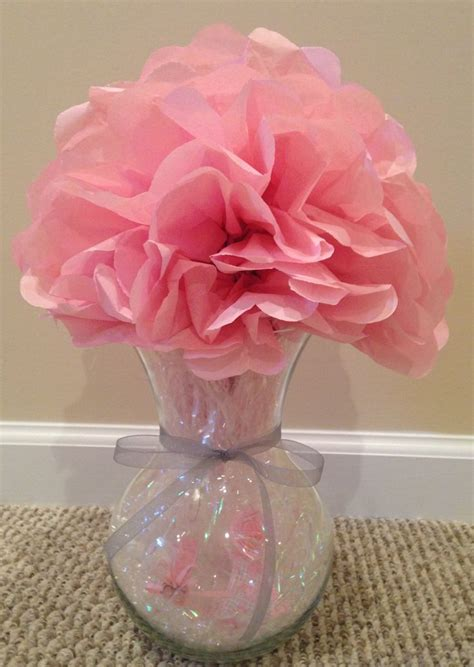 Vase Centerpieces For Baby Shower by Baby Shower Centerpiece Using A Vase Small Plastic