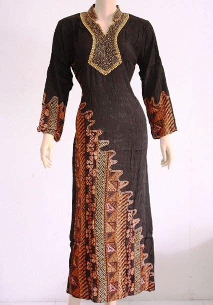 gamis kombinasi batik modern model baju pinterest