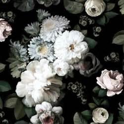 wallpaper floral dark floral wallpaper by ellie cashman design