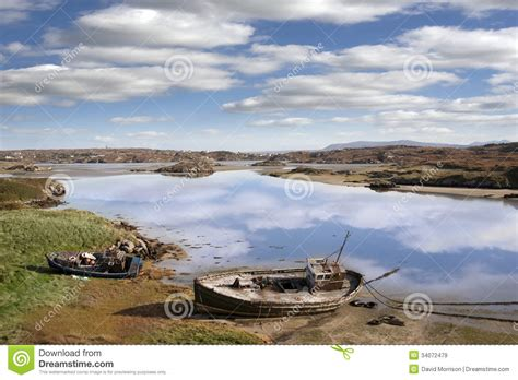 sea fishing boat license ireland two beached fishing boats on donegal beach royalty free