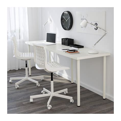 Linnmon Desk by Adils Linnmon Table White 200x60 Cm