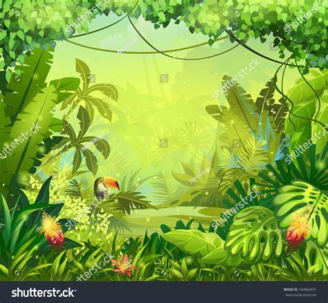 design flower game jungle toucan flower video web design stock vector