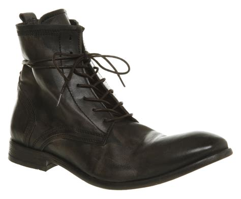 boots mens mens h by hudson ss11 swathmore lace boot black leather