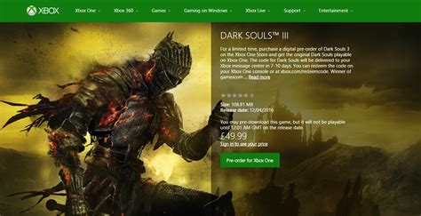 Xbox One Souls 3 souls made backwardly compatible on xbox one wholesgame