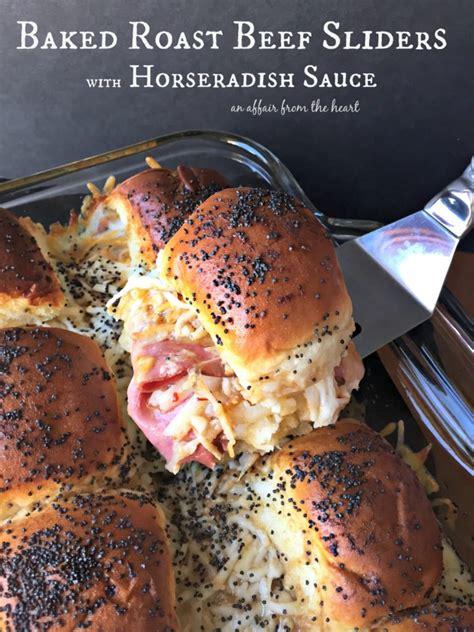 baked roast beef sliders  horseradish sauce  affair   heart