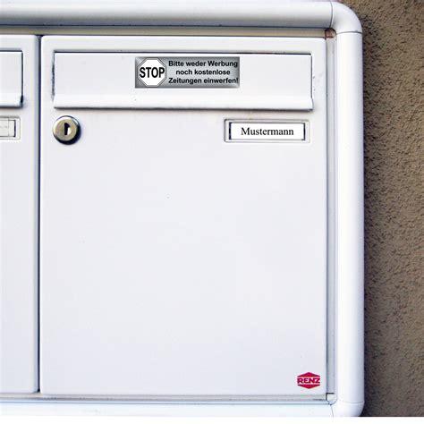 Aufkleber Auf Briefkasten Entfernen by 200 Aufkleber Briefkasten Stop Bitte Keine Werbung Reklame