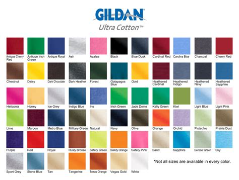 Color Tshirt gildan shirt colors elite screen printing