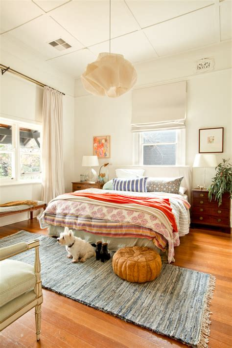 mission style bedding bedroom eclectic with wood