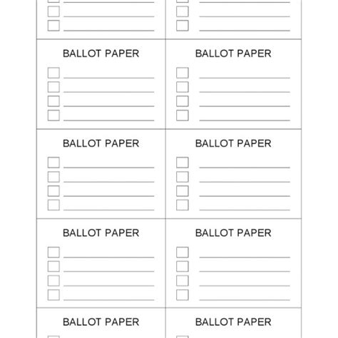 word ballot template student council election ballot template inside voting