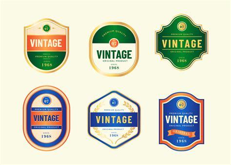 vintage labels template vector   vectors