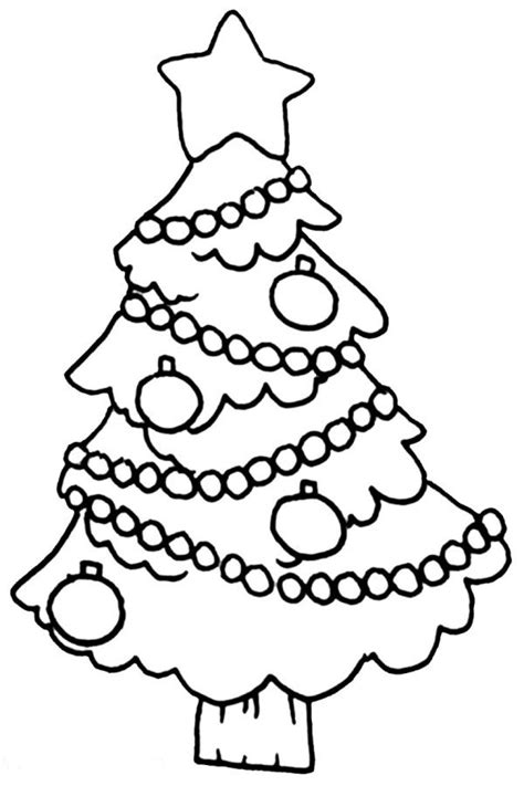 simple christmas tree coloring pages easy christmas tree coloring page christian coloring
