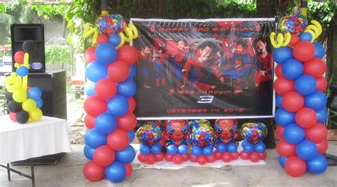 center column themes spiderman cebu balloons and party supplies