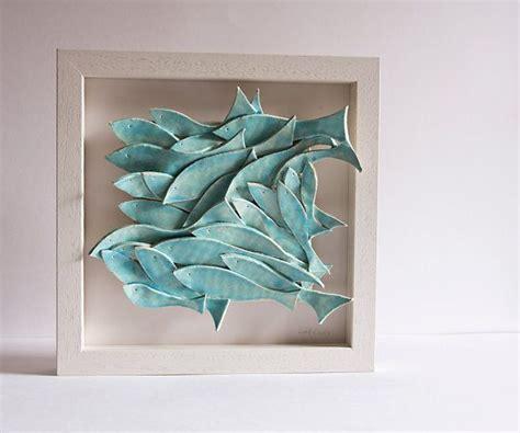 ceramic wall decorations 50 second s sale ceramic wall school of fish
