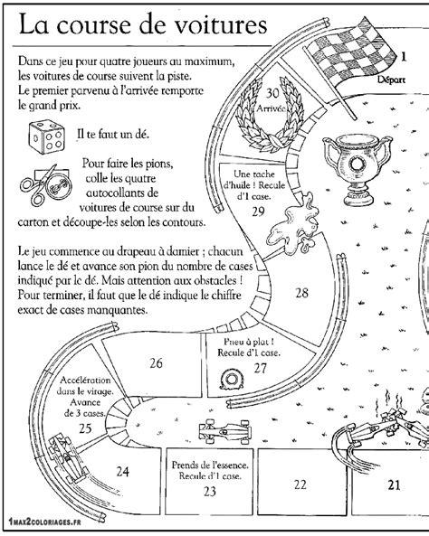 Fabriquation D Un Jeu De L Oie Imprimer Le Cot 233 Gauche Dessin Voiture De Course Imprimer L