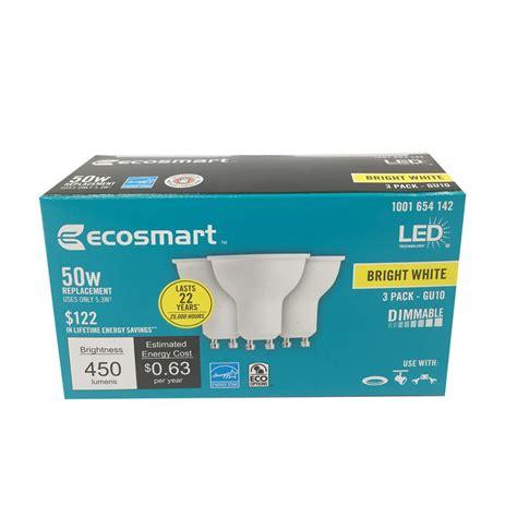 led light bulb pack ecosmart led light bulb 3 pack 50w equivalent bright