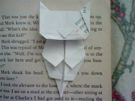Origami Cat Bookmark - jo nakashima cat bookmark crafts