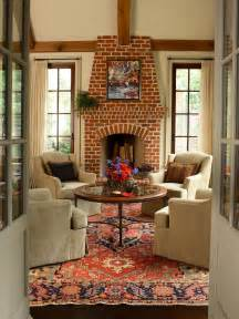 Living Room Decorating Ideas With Brick Fireplace Fireplaces Brick And More Home Remodeling