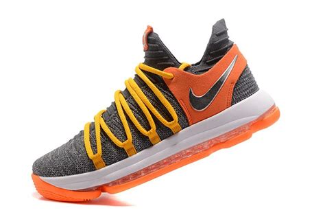 cool shoes for nike kd x 10 cool grey orange basketball shoes for sale