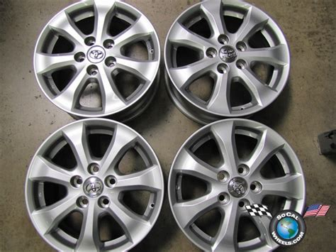 toyota camry factory wheels 07 10 toyota camry factory 16 quot wheels oem rims 69495