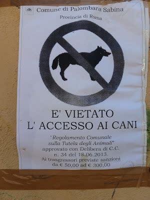 divieto ingresso cani associazione italiana difesa animali ed ambiente divieto