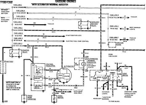 wiring for ford external regulator alternator diagram