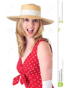 Woman In Fifties Fashion With Surprised Expression Royalty Free Stock Image Image 479886