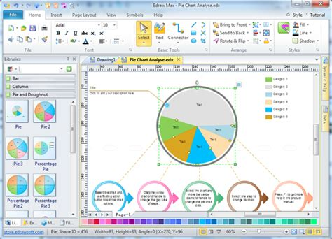 software for creating graphs pie chart software