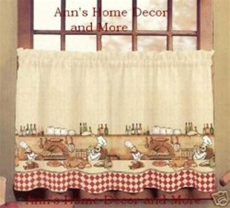 fat chef curtains for kitchen fat chef kitchen curtains cute for the home pinterest