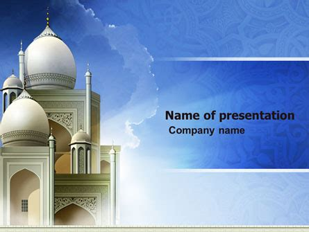 Islamic Architecture Powerpoint Template Backgrounds 05013 Poweredtemplate Com Free Islamic Powerpoint Templates