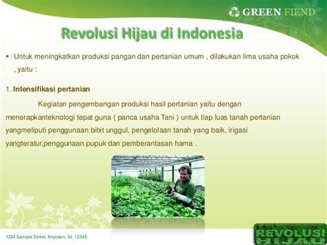 Teh Hijau Di Indonesia revolusi hijau di indonesia
