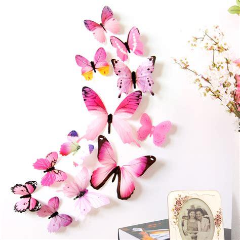 Stiker Kulkas 1 Pintu Minnie Pink by Wall Sticker Butterfly Pvc H023 3d Stiker Dinding Kupu