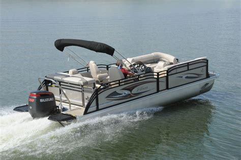 hurricane deck boat vs pontoon jc tritoon marine 25 neptoon sport night shade edition
