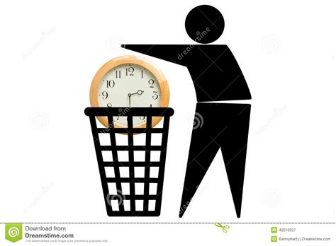 Time Waster Time by Wasting Time Concept Stock Illustration Illustration Of