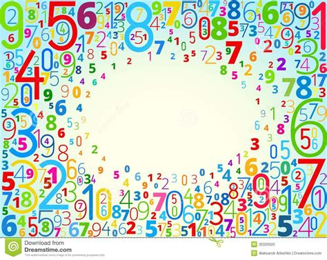 background design numbers vector background from numbers stock vector illustration