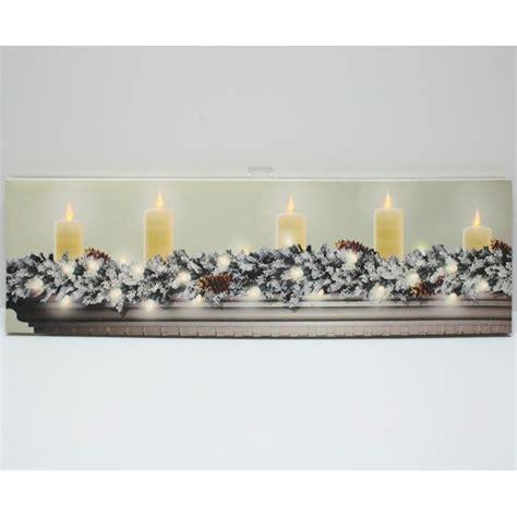 flickering light canvas wholesale ohio wholesale 46550 34 quot x 10 quot x 1 quot quot on mantel