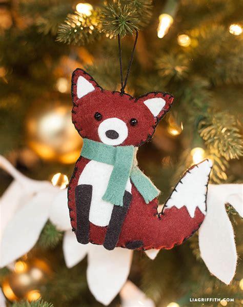 fox animal felt ornament lia griffith