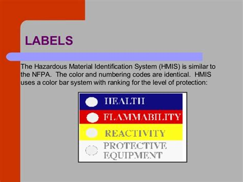 hmis label white section hazard communication training by lausd