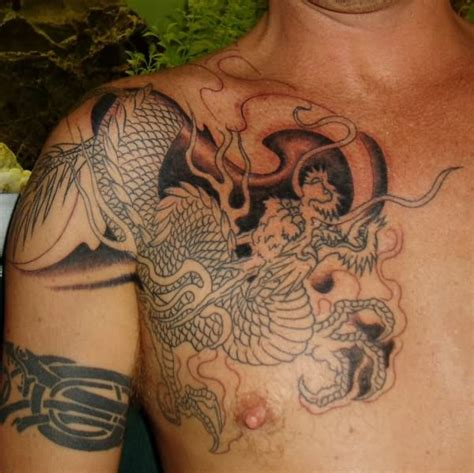 japanese chest tattoos japanese snake for chest