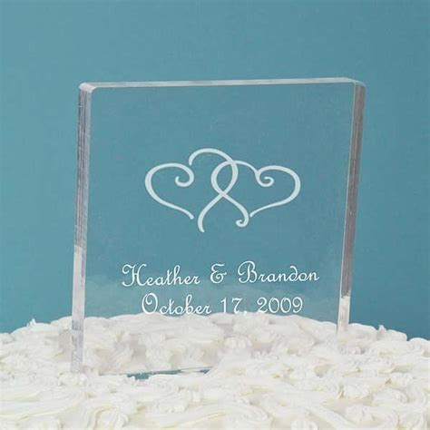 Acrylic Topper For Cake personalized acrylic square cake topper wedding collectibles