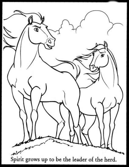 The Spirit Coloring Pages Spirit Stallion Of Cimarron And Spirit Stallion Of The Cimarron Coloring Pages