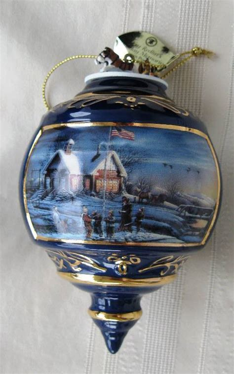 beautiful porcelain terry redlin christmas ornaments