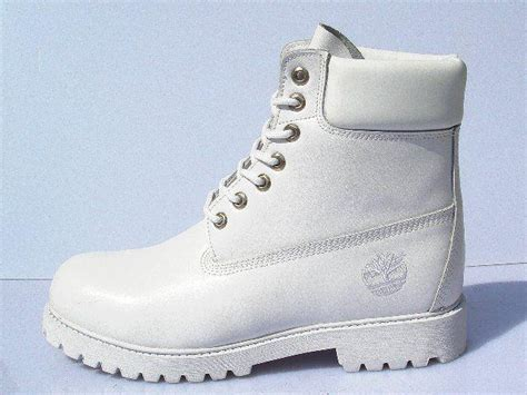 timberland leather collar white waterproof boots